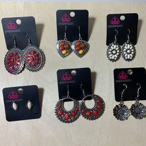 Lot of 6 NWT Paparazzi earrings